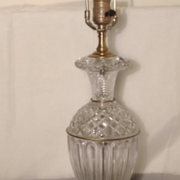 Heavy Urn Shaped Glass Table Lamp - Lamps