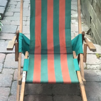 Telescope Casual Furniture deck chair. - Mid-Century Modern