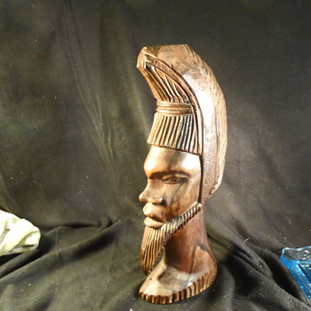 Ironwood carving Large African Bust - Figurines