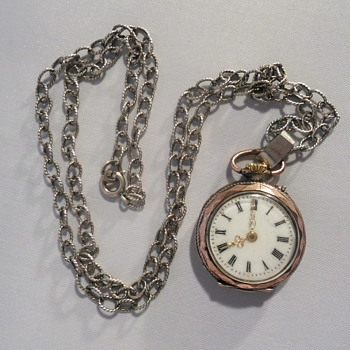 Antique pocket watch and vintage silver chain - Fine Jewelry
