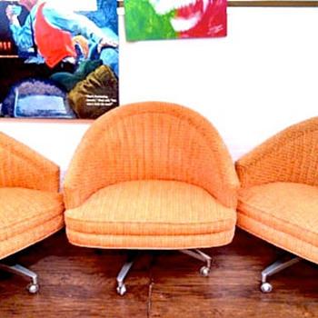 StayingVintage's Retro Bucket Seat Snuggy Huggin' Chairs  - Furniture