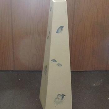 Tall white Ceramic Bottle Birds Eggs  - Pottery