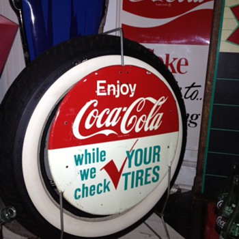 Coca-Cola...Tire Rack Sign...1960's - Coca-Cola