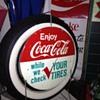 Coca-Cola...Tire Rack Sign...1960's