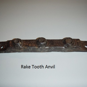 Rake Tooth Anvil - Tools and Hardware