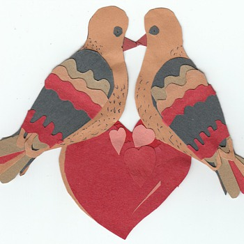 Homemade and Handmade Valentines Cards collection Jim Linderman - Folk Art