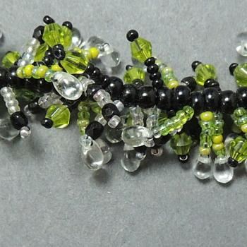 Brace with Glass Beads marked 925 - Costume Jewelry