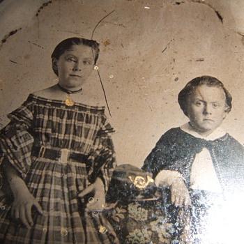 Civil War mourning tintype