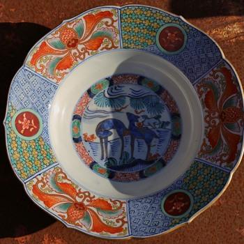 Fukagawa Imari Plate  - Asian