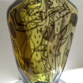 Ulrica Hydman-Vallien Graal test piece - Art Glass