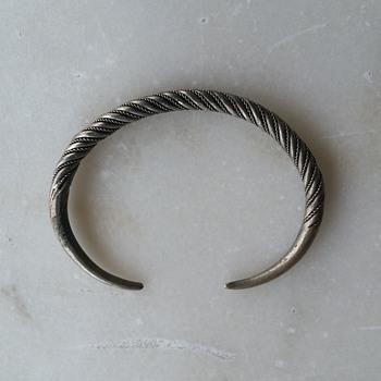 Mystery pewter? cuff - Fine Jewelry