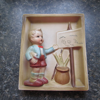 Hummel Ceramic Plaque - Figurines