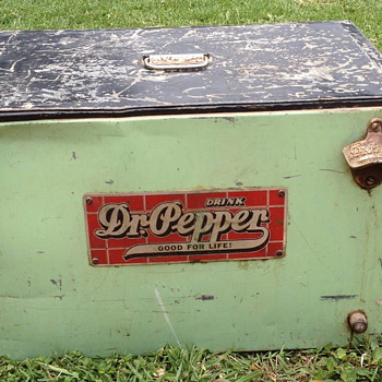 1930's Atlas Dr. Pepper Counter Cooler - Advertising