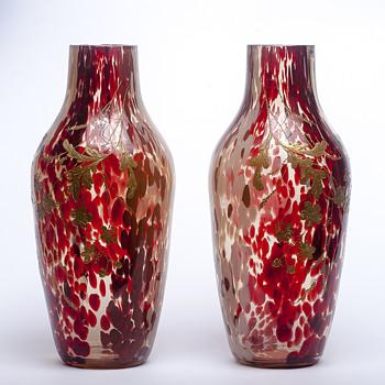 Ernest-Baptiste Léveillé pair - Art Glass