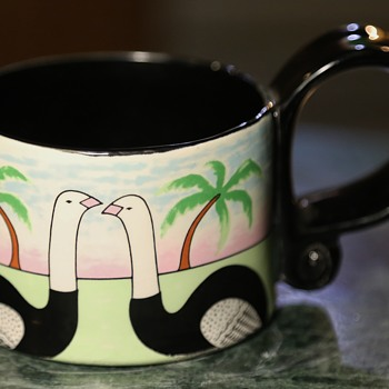 Child's Cup with Ostriches - Pottery