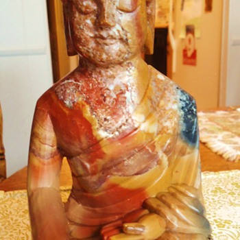 """Marble Buddha statue,   3.7 pounds  9"""" or 23 cm."""