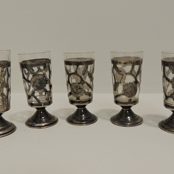 Sterling Silver Shot Glasses?  Mexico - Silver