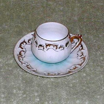 Blue & White Porcelain Demitasse Cup & Saucer - China and Dinnerware