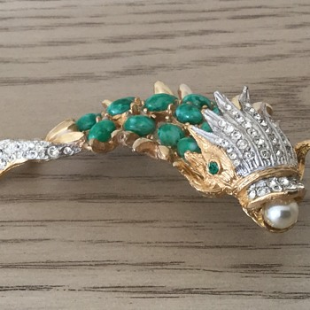 KJL 1960's FANTASY COLLECTION/SEA CREATURE...a birthday present from my Daughter! - Costume Jewelry