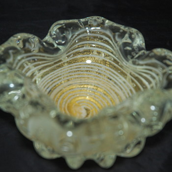 Italian Murano Glass Ashtray  - Art Glass