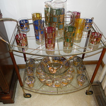 Culver Glass on Bar Cart - Glassware