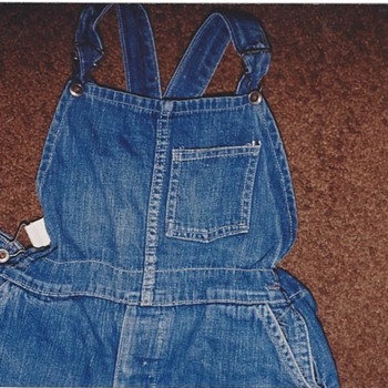Bib overalls found in underground dirt home 35 years ago - Mens Clothing