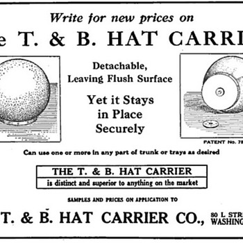 T & B Hat Carrier Advertisement  - Advertising