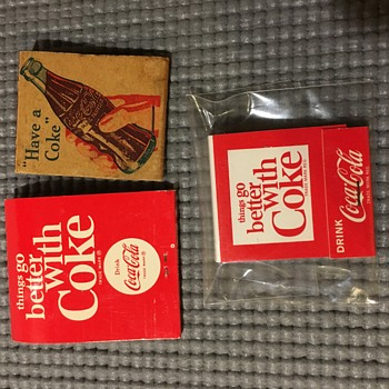 Miscellaneous Coke - Matches, Carrier, Bottles - Coca-Cola