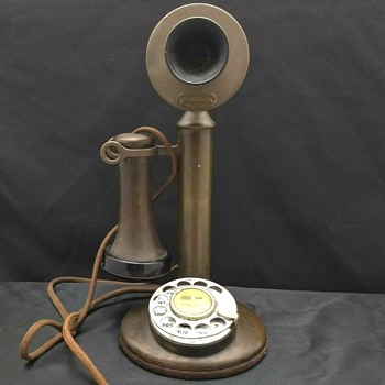 Antique Candlestick Phone American Tel & Tel Co. #337 - Telephones
