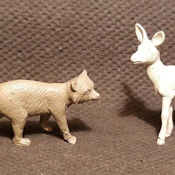 More Marx North American Mammals From Playsets 1950s - Toys