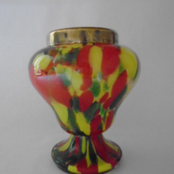 Art Deco Welz Rose Bowl - Art Glass