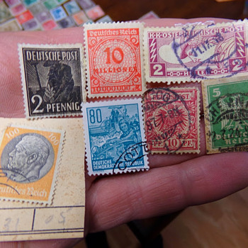 German Stamp Collection - Stamps