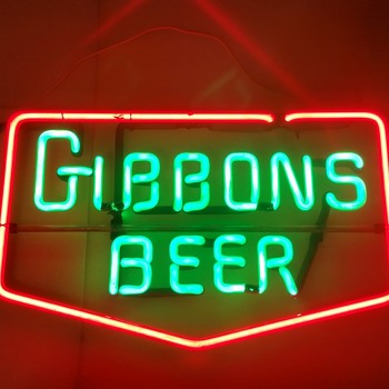 Vintage Gibbons neon - Signs