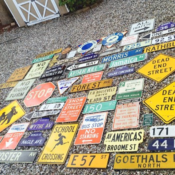 Entire collection of New York City street signage - Signs