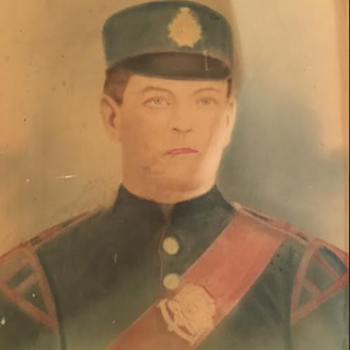 Victorian 90th Winnipeg Rifles Bugler Portrait   - Fine Art
