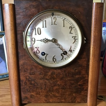 1930's Seth Thomas Art Deco Mantle Clock - Clocks
