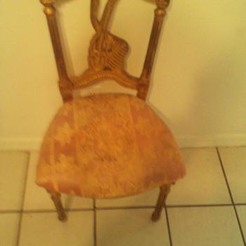 amazing unique musical carved antique chair - Furniture