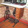 Willcox & Gibbs Sewing Machine base restored Repurposed.