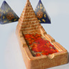 Labeled Stick_In_Cense 1960s Pyramid Shaped Incense Burner / Ash Tray