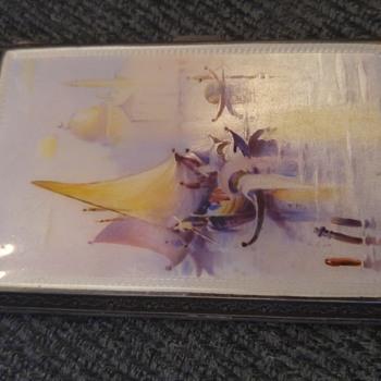 Sterling Silver enameled cigarette case or card case?