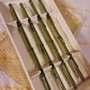 (another!) set of 4 green glass 'bamboo' swizzle sticks
