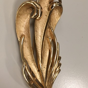 "Trifari ""Quill"" Pin - Costume Jewelry"