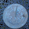 Antique Sundial w/ Massachusetts State Seal Grow Old Along with Me the Best is Yet To Be