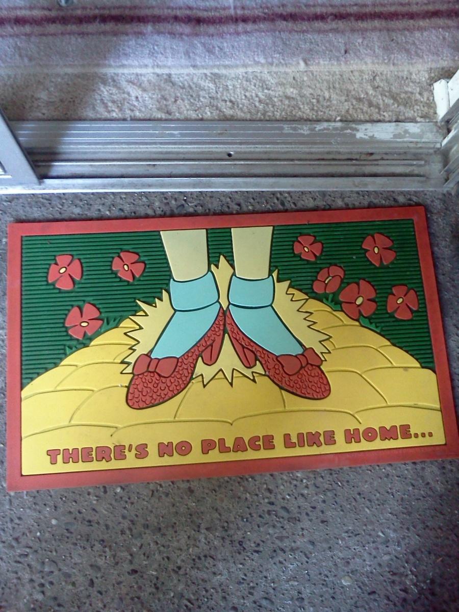 wizard of oz door mat | collectors weekly