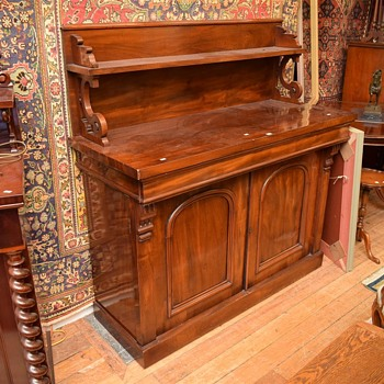 Early Victorian Flame Mahogany, Double Bodied Sideboard - Furniture