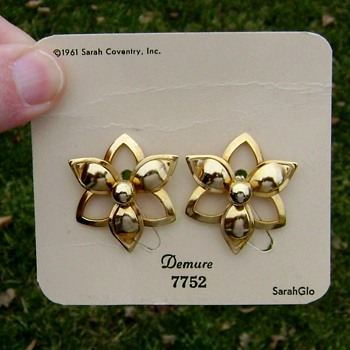 Sarah Coventry Earrings - Demure - Costume Jewelry