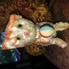 Wind up Orange and white cat ball moves  walks and moves head