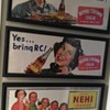 3 paper/cardboard RC and Nehi  trolley signs