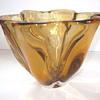 Narumi/Sanyu Fantasy Glass amber bowl