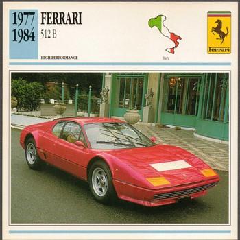 Vintage Car Card - Ferrari 512 B - Classic Cars